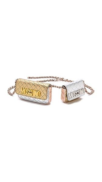Moschino Mixed Metallic Fanny Pack