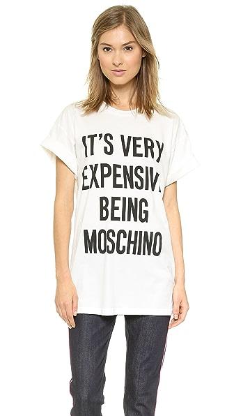 Moschino Cotton Jersey T-Shirt with Slogan