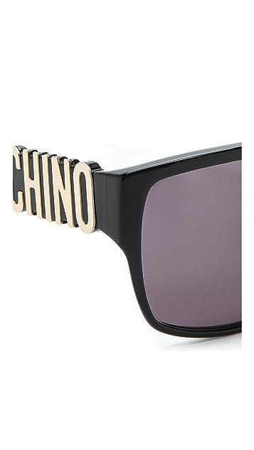 Moschino Flat Top Sunglasses
