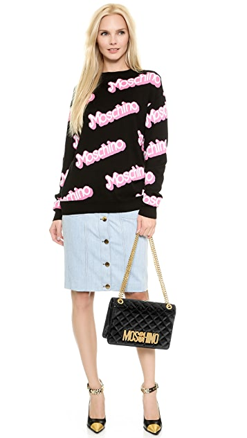 Moschino Patent Leather Shoulder Bag