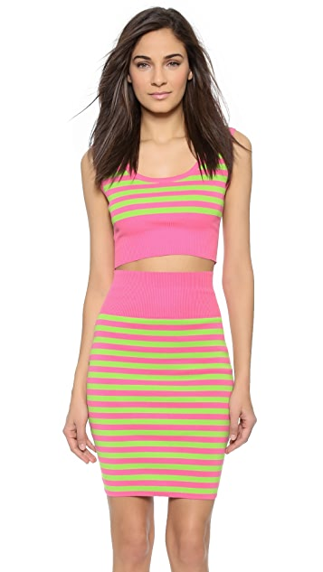 Moschino Stripe Crop Top