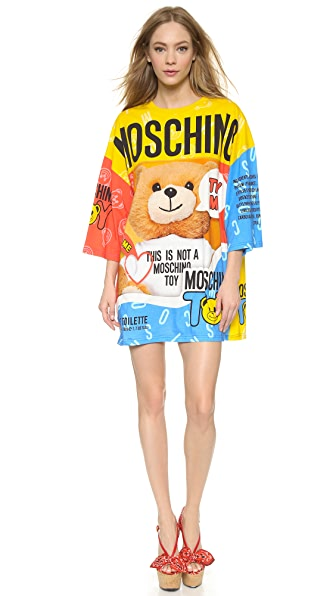 Moschino Printed Long Sleeve Dress