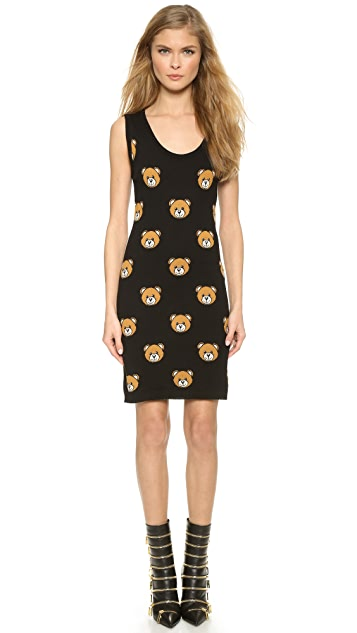 Moschino Sleeveless Printed Knit Dress