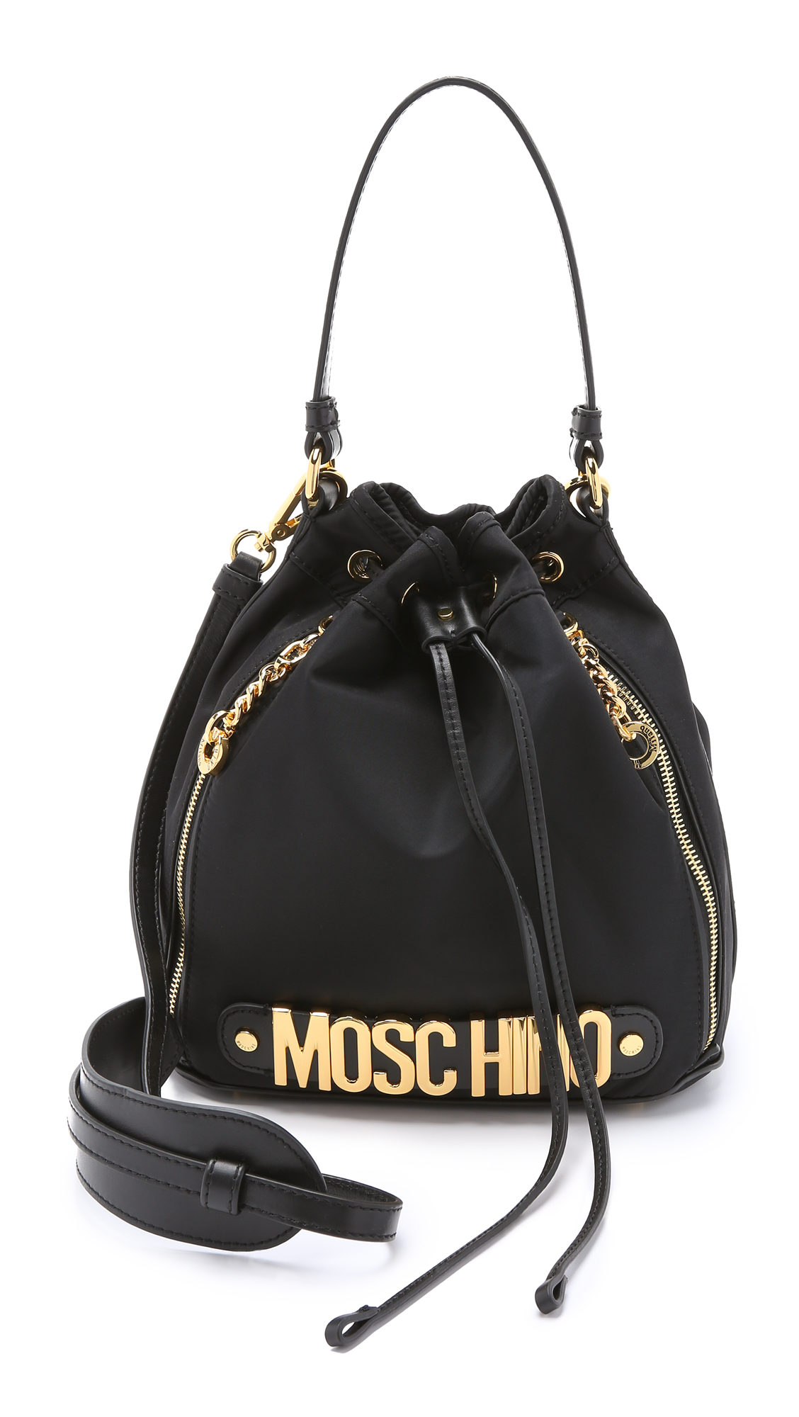 de923983fcfdb Moschino Nylon Bucket Bag | SHOPBOP