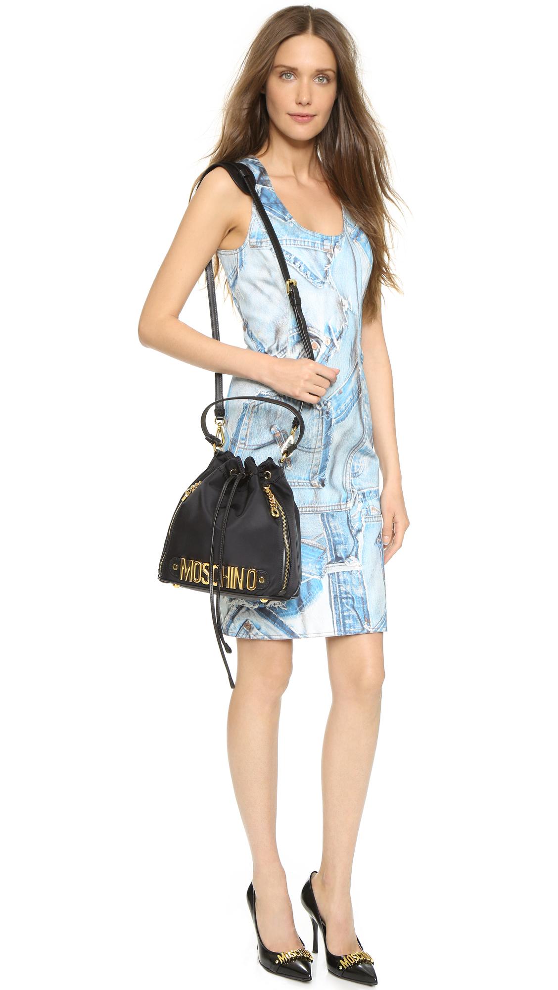 28f739605a2 Moschino Nylon Bucket Bag   SHOPBOP