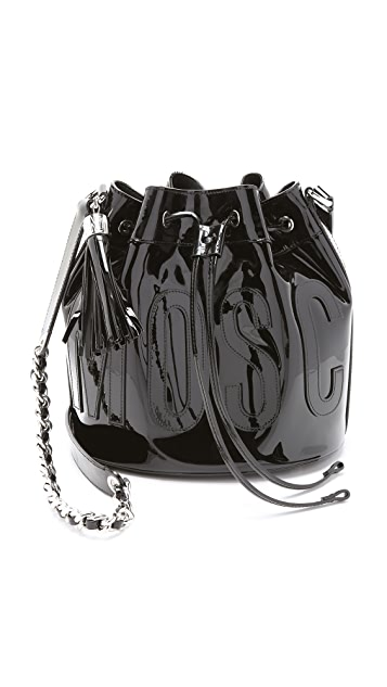 Moschino Patent Leather Bucket Bag