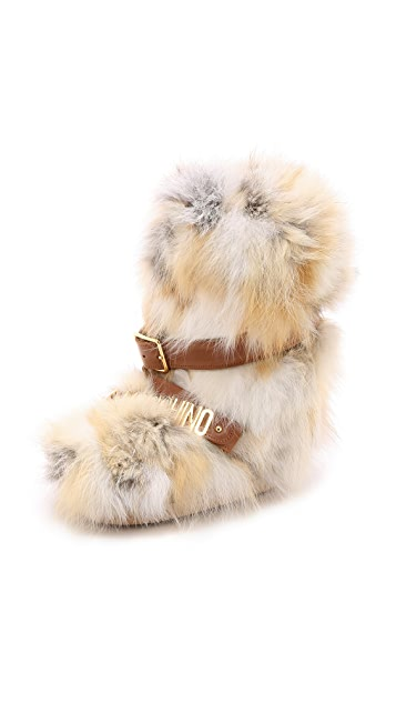 Moschino Fur Boots
