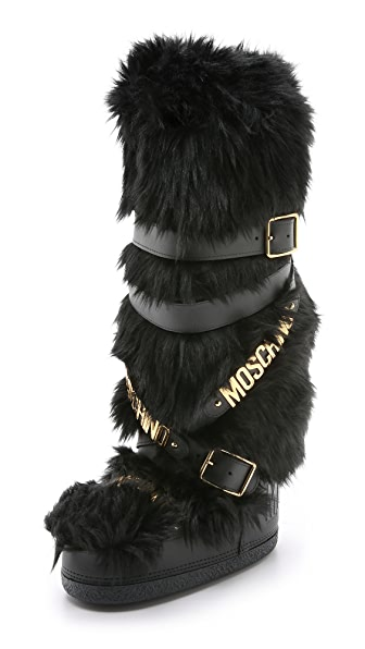 Moschino Faux Fur Boots Shopbop
