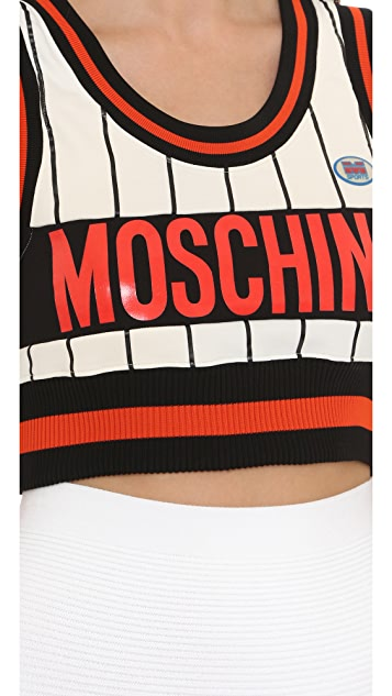 Moschino Sleeveless Crop Top