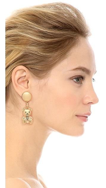 Moschino Bear Earrings