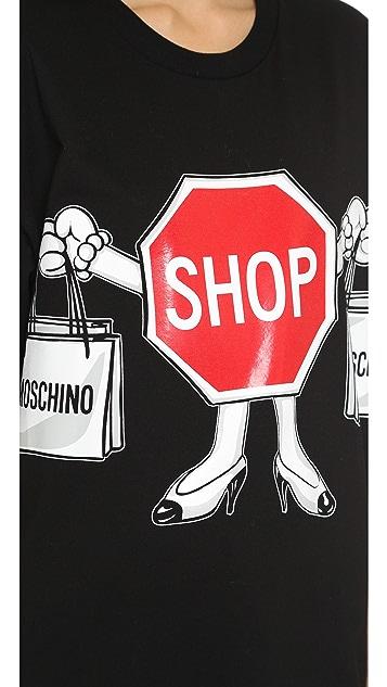 Moschino Cotton Jersey Short Sleeve T-Shirt