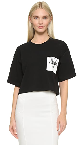 Moschino Shopping Crop T-Shirt