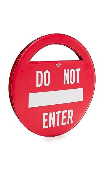 Moschino Do Not Enter Shoulder Bag