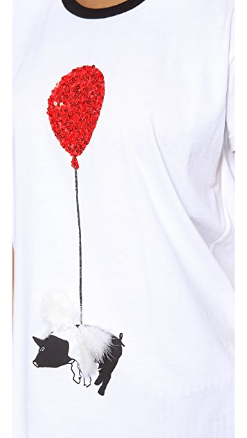 Mother of Pearl Pig & Balloon Tee