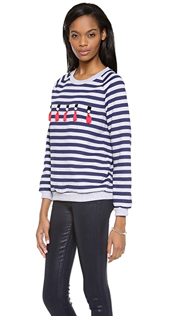 Mother of Pearl Milo Embellished Stripe Top