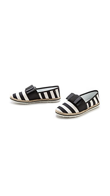 Mother of Pearl Lagan Striped Espadrilles