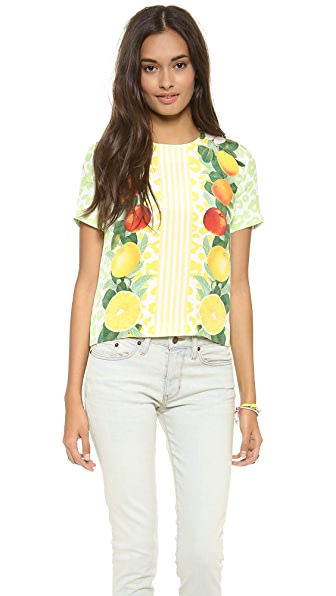 Mother of Pearl Boxy Fruit Top
