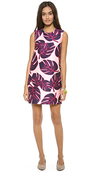 Mother of Pearl Palms Shift Dress