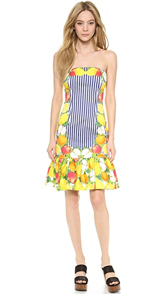 Mother of Pearl Strapless Fruits Dress