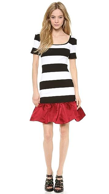 Mother of Pearl Bodycon Peplum Mini Dress