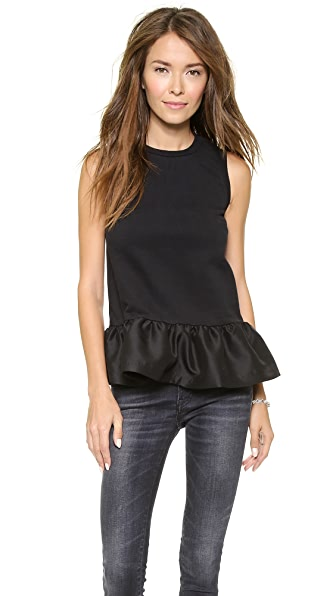 Mother of Pearl Averil Peplum Top