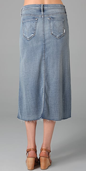 MOTHER The Straight A Skirt
