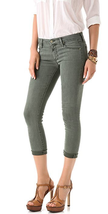 MOTHER Pop! The Looker Cropped Skinny Jeans