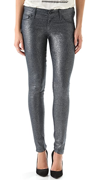MOTHER The Looker Glimmer Skinny Jeans