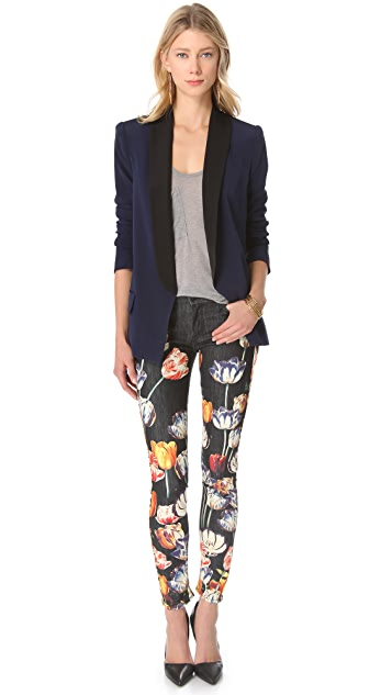 MOTHER The Looker Print Skinny Jeans