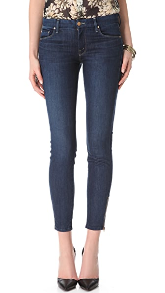 MOTHER Looker Ankle Zip Skinny Jeans | SHOPBOP
