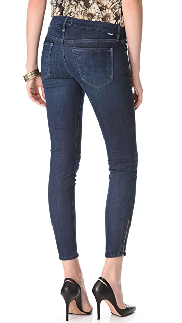MOTHER Looker Ankle Zip Skinny Jeans