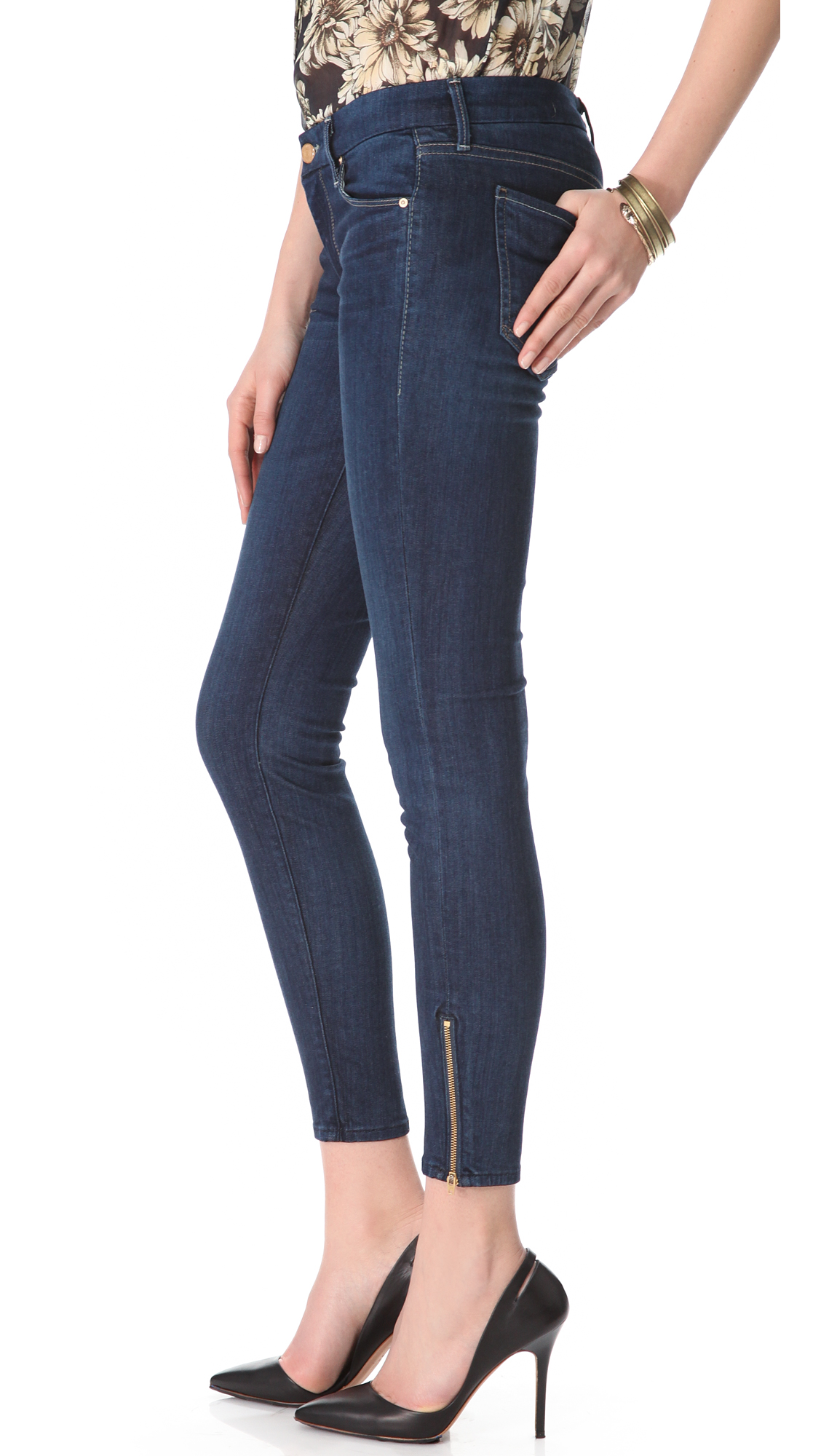 MOTHER Looker Ankle Zip Skinny Jeans | SHOPBOP Extra 25% Off Sale ...
