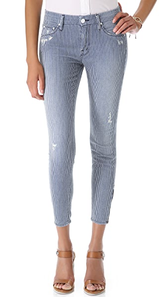 MOTHER The Looker Ankle Zip Skinny Jeans | SHOPBOP