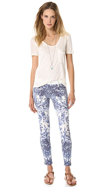 MOTHER Looker Ankle Zip Jeans