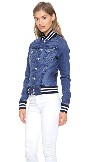 MOTHER Letterman Bully Jacket