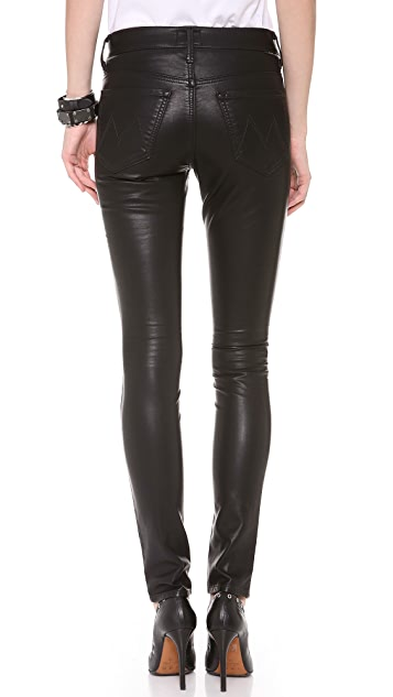 MOTHER Freja + MOTHER The Muse Vegan Leather Pants