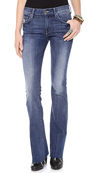 MOTHER The Slacker Fray Skinny Flare Jeans