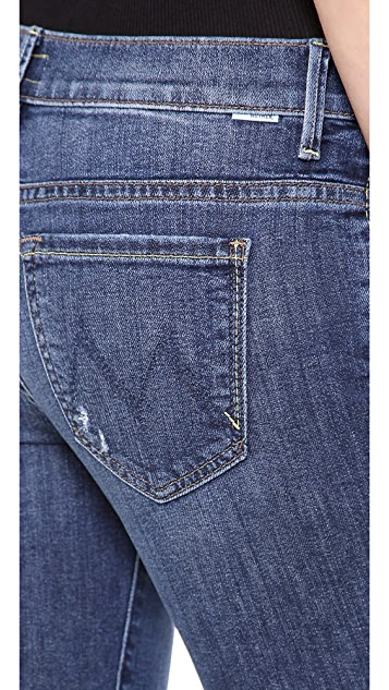 MOTHER The Slacker Fray Skinny Flare Jeans