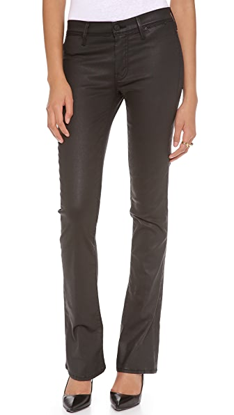 MOTHER The Daydreamer Coated Flare Jeans