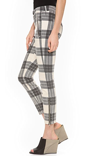 MOTHER The Muse Cropped Skinny Pant with Zips