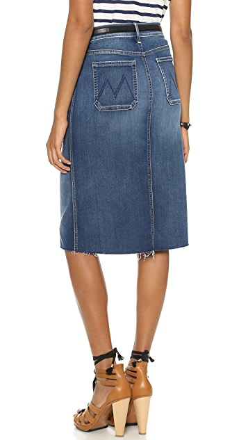 MOTHER High Waisted Patchie Skirt