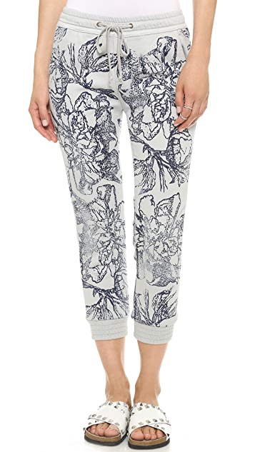 MOTHER Drawstring Cropped Trainer Pants