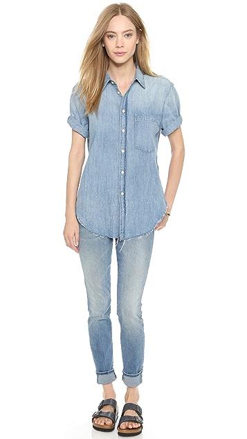 MOTHER Short Sleeve Frenchie Shirt