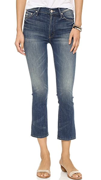 MOTHER The Insider Crop Jeans - Double Trouble