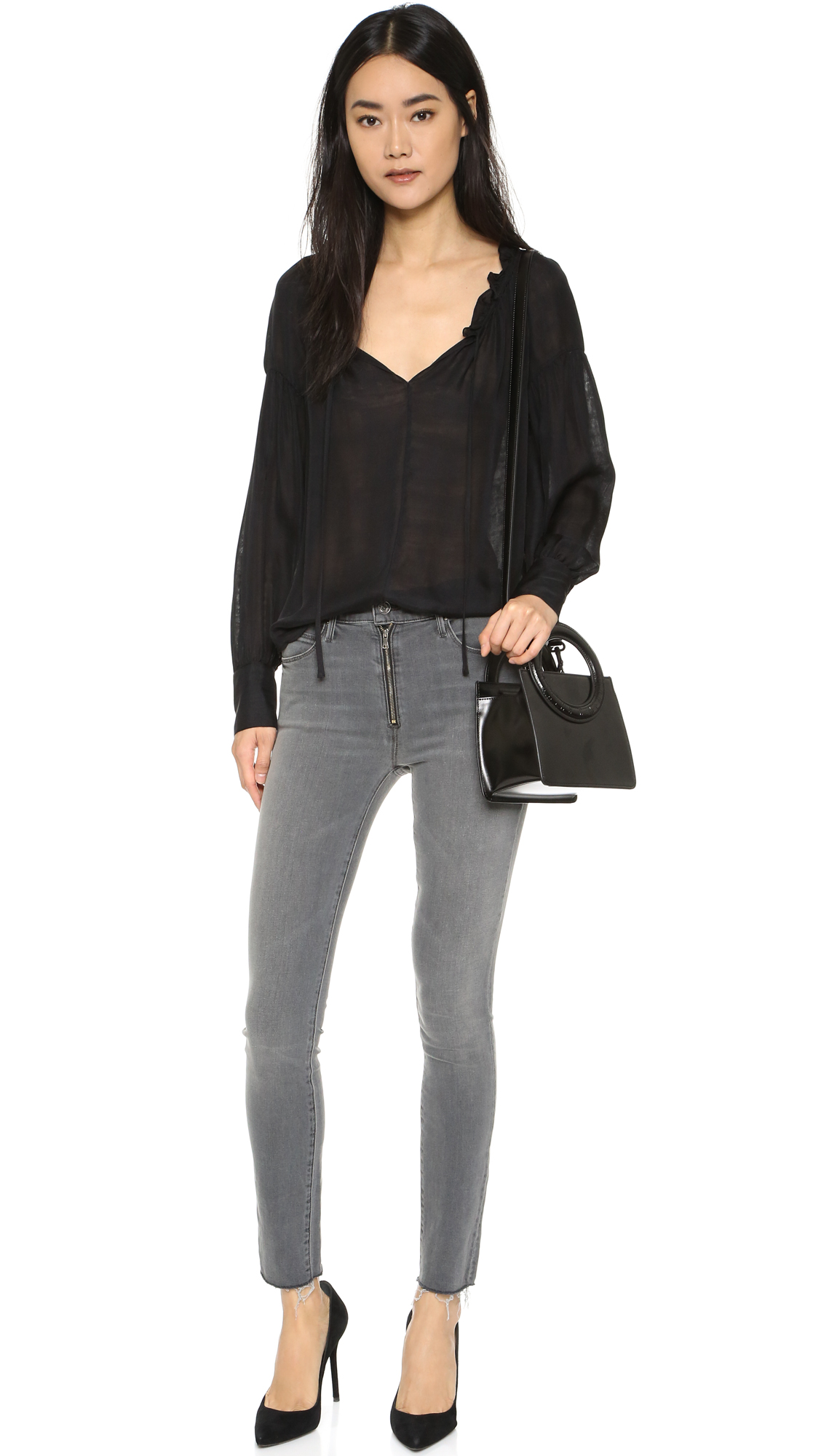 ba1137adc7b MOTHER The Fly Stunner Fray Jeans