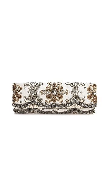 MOYNA Elongated Metal Beads Clutch
