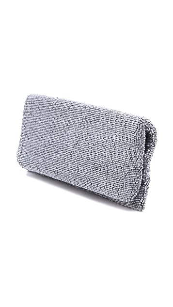 MOYNA Solid Fold Over Clutch