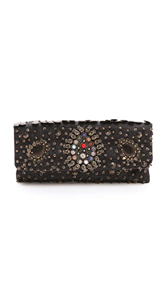 MOYNA Oval Stone Medallion Clutch
