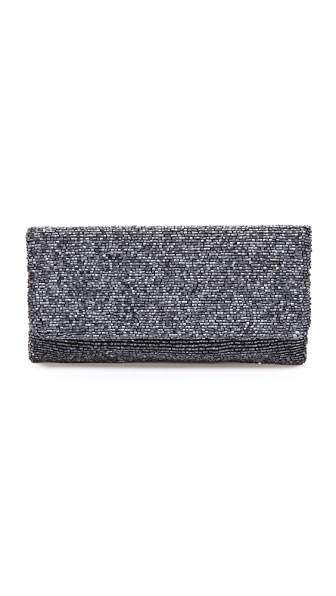 MOYNA Beaded Fold Over Clutch