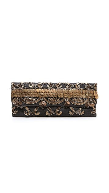 MOYNA Clutch with Hanging Chains